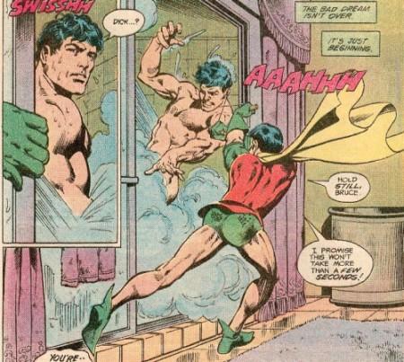 batman and robin shower