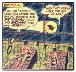 batman robin tanning