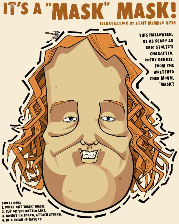 Cartoon Rocky Dennis Mask