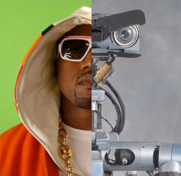 Kanye and Johnny 5
