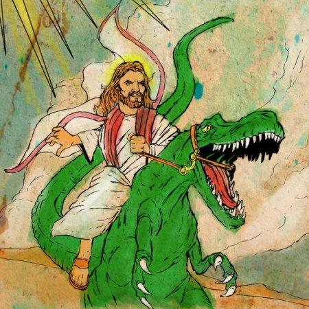 Jesus with Dinosaur