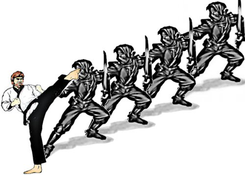 Ninja conga line