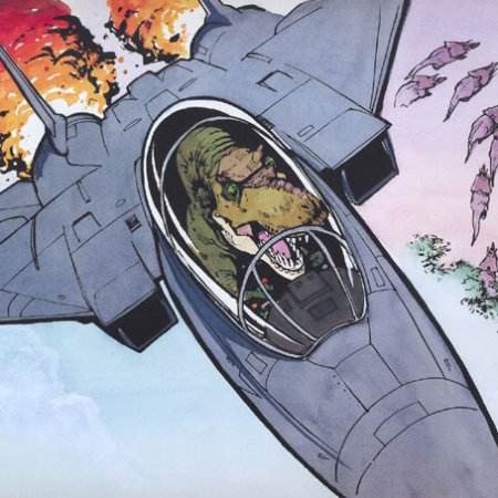 T-Rex in Jet